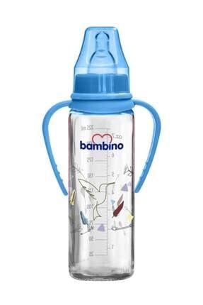 Bambino Kulplu Cam Biberon 225 Ml - Mavi 0