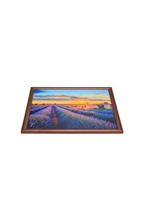 Yedi Home&Decor Keyif Tepsisi_lavender Field (bilgisayar Ve Kahvaltı Tepsisi) 1