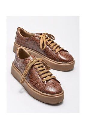 Elle Taba Deri Kadın Spor Ayakkabı 1
