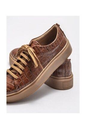Elle Taba Deri Kadın Spor Ayakkabı 3