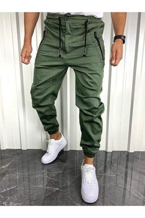 İnsane Minds Erkek  Haki Yeşil Fermuarlı Cepli Jogger Pantolon 1