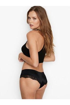 Victoria's Secret Kadın Siyah Cheeky Mikro Dantel Gömme Külot 1