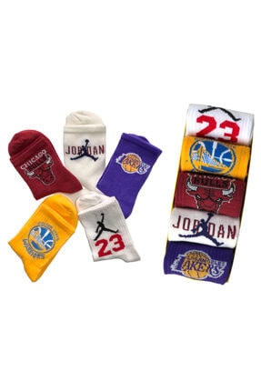 Pofudy Socks 5'li Trend Basketbol Çorap Seti 0
