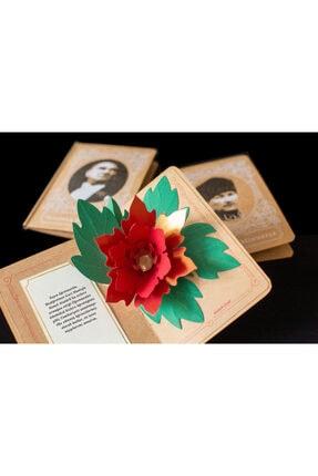 Kağıtistan Atatürk Çiçeği 3d Popup Hediye Karpostal Ve Zarfı 1