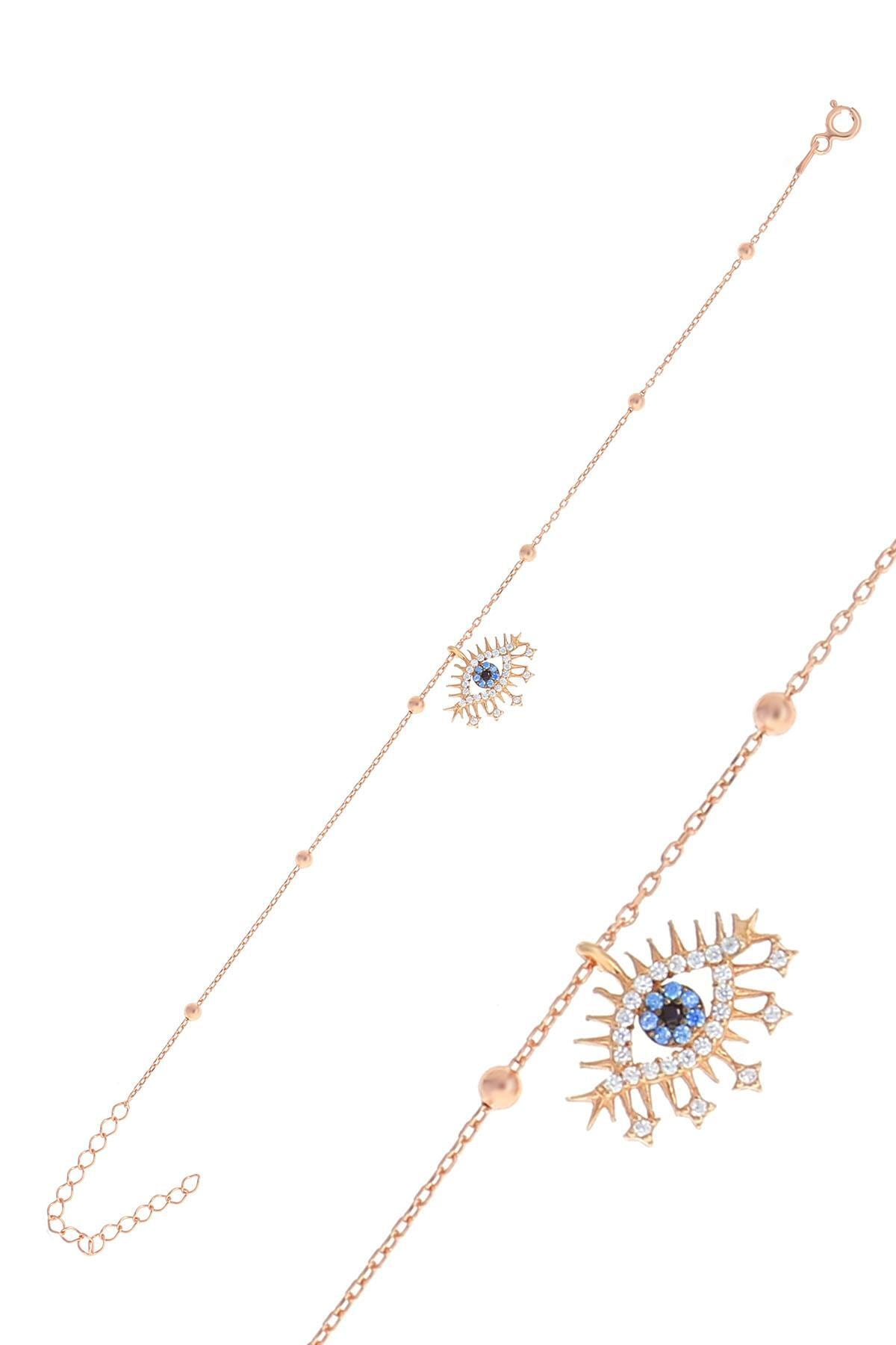Söğütlü Silver Gümüş Rose Top Top Zincirli Lareyn Bileklik 0