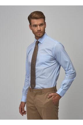 Altınyıldız Classics Erkek Açık Mavi Regular Fit Klasik Gömlek 1