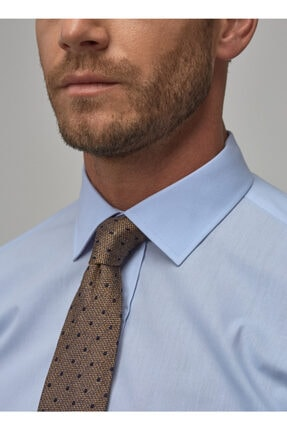 Altınyıldız Classics Erkek Açık Mavi Regular Fit Klasik Gömlek 2