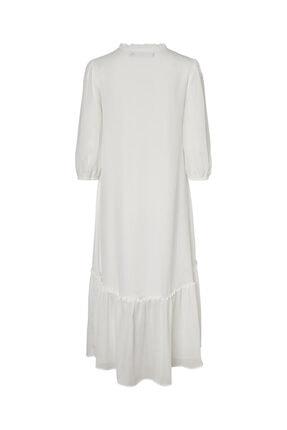 Vero Moda Kadın Carnelian Desenli Uzun Truvakar Kol Elbise 10230399 VMNUKA 1