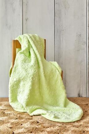Karaca Home Candy Yeşil Bebek Embosy Battaniye 0