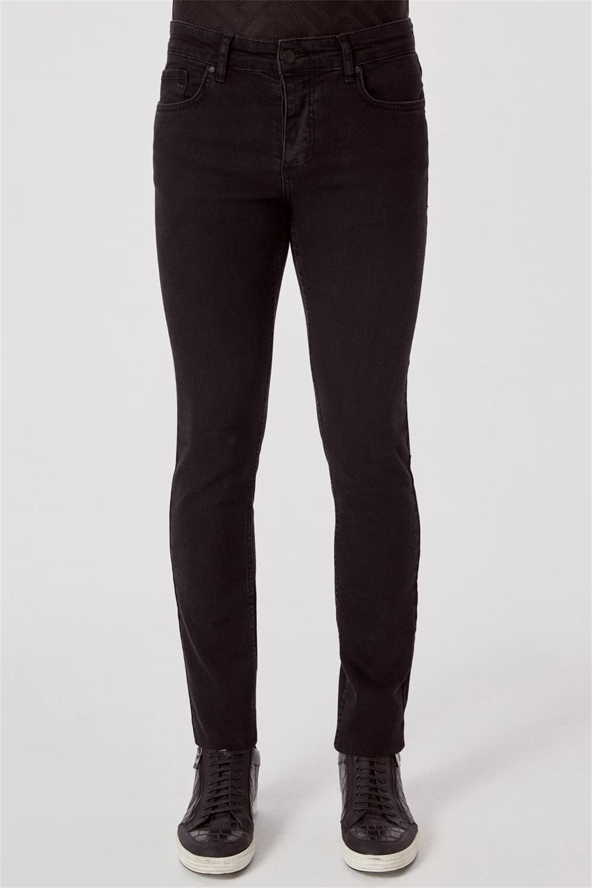 Efor 065 Slim Fit Siyah Jean Pantolon 1