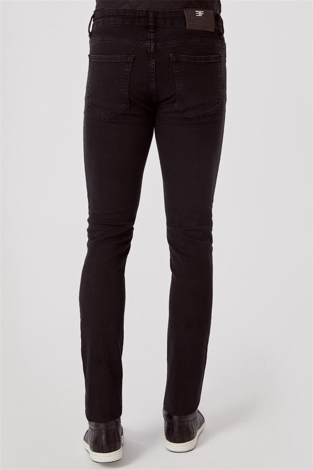 Efor 065 Slim Fit Siyah Jean Pantolon 3