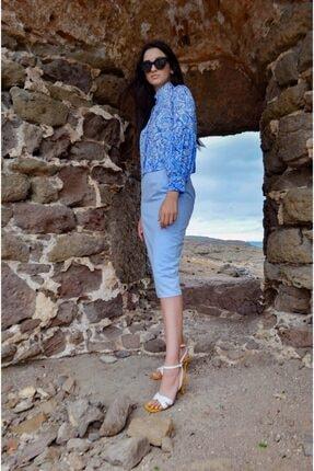 FATMASAVUL Kadın Mavi Korint Gömlek 0