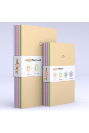 AKILLICA 8'li Defter Set Noktalı Soft Pastel Notebook 0