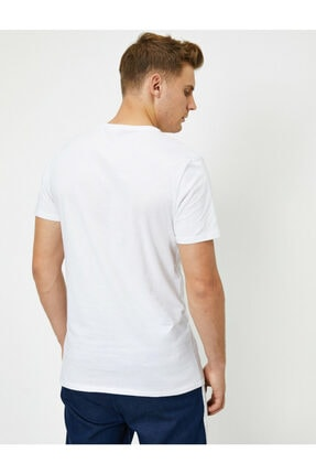 Koton Erkek Beyaz Marvel Lisanslı Yazılı Yarım Kollu T-Shirt 3