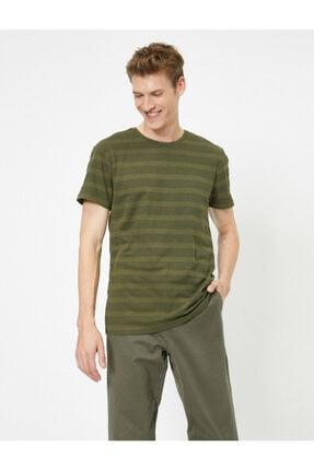 Koton Erkek Yeşil Bisiklet Yaka T-Shirt 0YAM12329OK 0