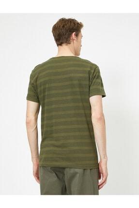 Koton Erkek Yeşil Bisiklet Yaka T-Shirt 0YAM12329OK 3