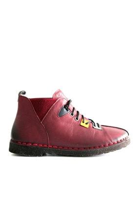 Beta Shoes Kadın Bordo Bot 22-ca08-008 4