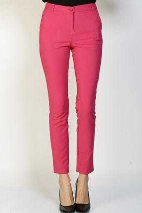 LİMON COMPANY Kadın Pembe Slim Fit Pantolon 501602362 1
