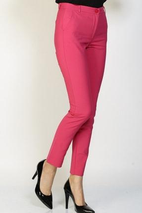 LİMON COMPANY Kadın Pembe Slim Fit Pantolon 501602362 2