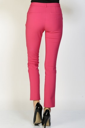 LİMON COMPANY Kadın Pembe Slim Fit Pantolon 501602362 3
