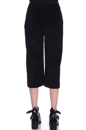 LİMON COMPANY Kadın Siyah Bol Paça Pantolon 501961367 3