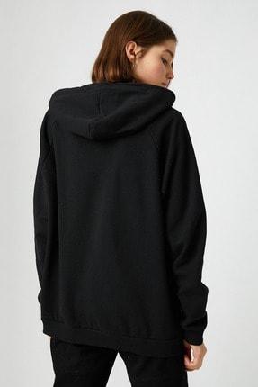 Koton Kadın Siyah Sweatshirt 1KAL68008OK 3