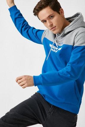 Koton Erkek Mavi Sweatshirt 1YAM71307MK 0