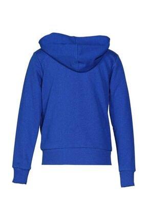 HUMMEL Unisex Çocuk Mavi Malua Fermuarlı Sweatshırt 2