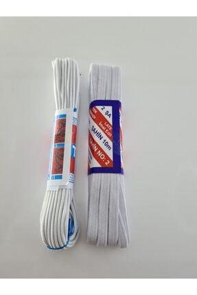 Dudo Baby Beyaz Bel Paça Don Lastiği Yassı Geniş Lastik 10 Metre + 10 Metre Lateks Ürün 2 Adet 0