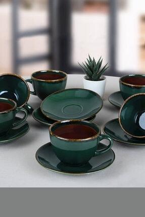 Keramika Zümrüt Çay Takımı 12 Parça 6 Kişilik 0