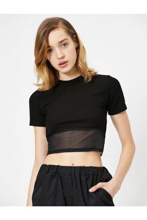 Koton Kadın Siyah T-Shirt 0YAL18625IK 1