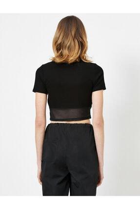 Koton Kadın Siyah T-Shirt 0YAL18625IK 3