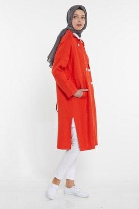 Nihan Kadın Kırmızı Keten Kap X3278 3