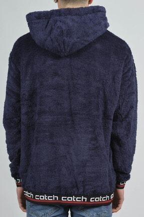 XHAN Lacivert Kanguru Cepli Peluş Sweatshirt 1KXE8-44270-14 2