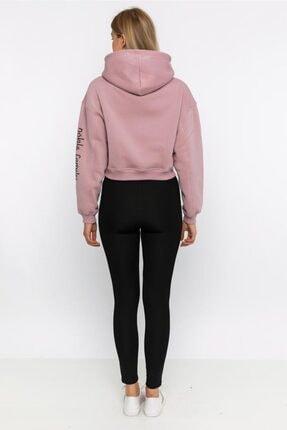 NOBLESSENCES Kadın Pudra Crop Sweatshirt 2