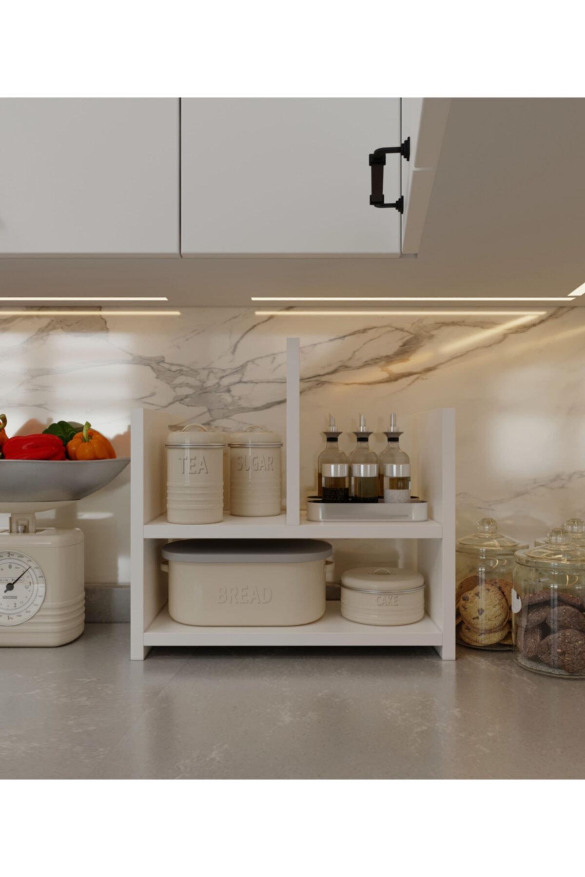 intarz Çok Amaçlı Mutfak Banyo Masa Üstü Düzenleme Mini Dolabı Genişlik 45cm Yükseklik 45cm Derinlik 20cm