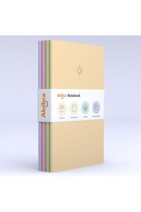 AKILLICA Notebook 4'lü Defter Set Noktalı Soft Pastel Notebook 13,5x21 Cm 0