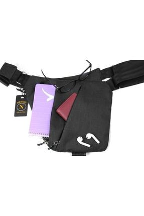Newish Unisex Siyah Çapraz Celart Tablet Çanta 3