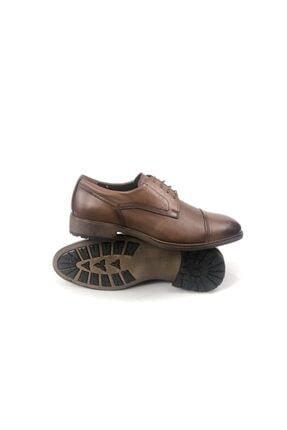 MARCOMEN Hakiki Deri Baskılı Erkek Klasik Rahat Taban Ayakkabı 1
