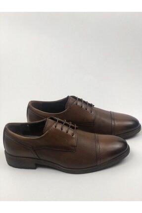 MARCOMEN Hakiki Deri Baskılı Erkek Klasik Rahat Taban Ayakkabı 4