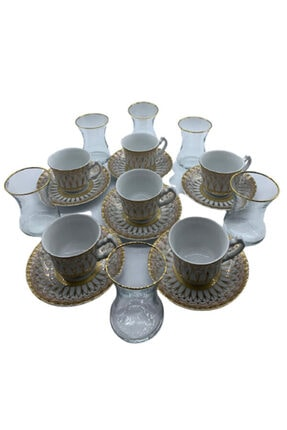 Selen Çay Kahve Takımı 12 Lı MVBZ-38095