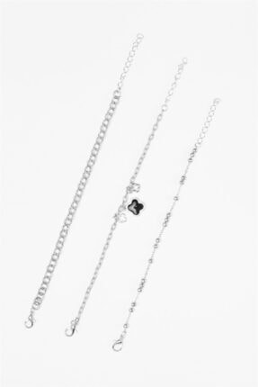 Sortie Aksesuar Kadın Gümüş 3lü Kombin Bileklik 034 1