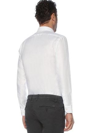 Network Erkek Beyaz Non Iron Beyaz Desenli Gömlek 1075280 2