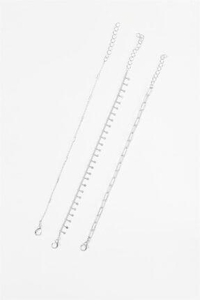 Sortie Aksesuar Kadın Gümüş 3lü Kombin Bileklik 040 1