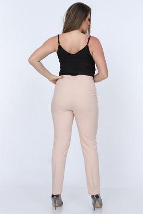 Rmg Kadın Krem Kumaş Yüksek Bel Düz Paça Pantolon Rg1294 1