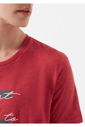Mavi Rest Of My Life Baskılı Kırmızı Istanbul Tişört 4