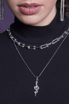 Sortie Aksesuar Kadın Gümüş Kombin Kolye 057 0