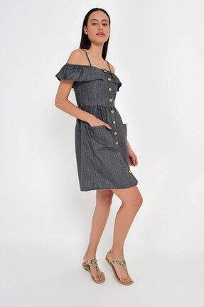 Cotton Mood 9201581 Bodrum Madonna Yaka Askılı Elbise 4