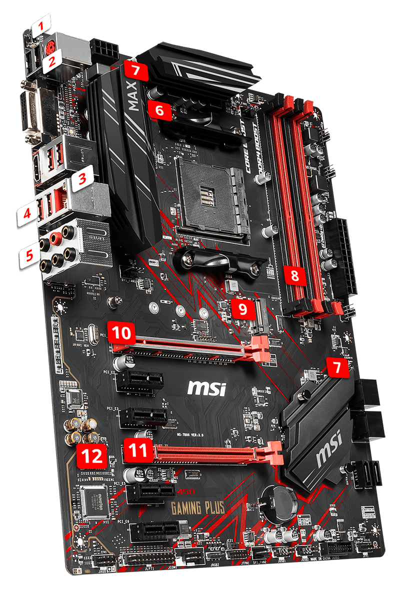 MSI B450 GAMING PLUS MAX overview