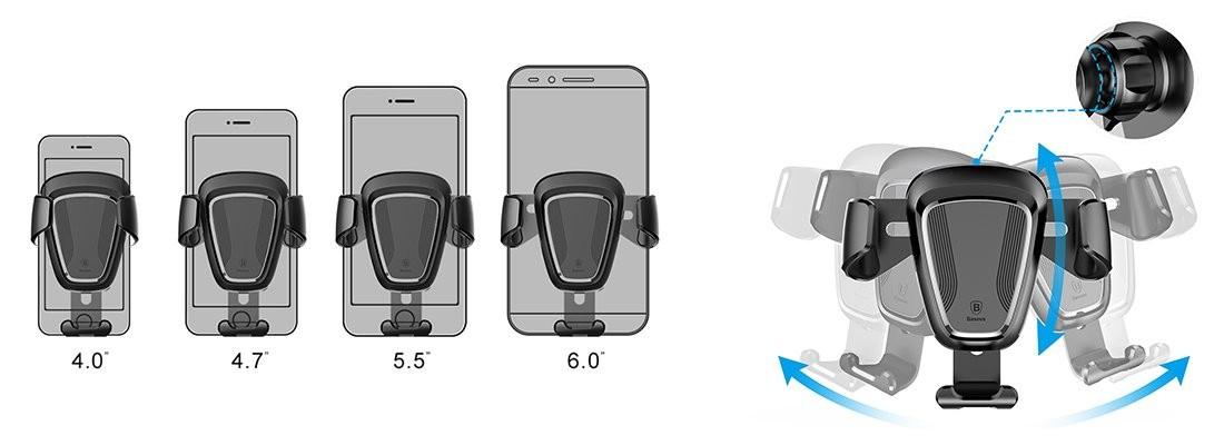 Baseus Gravity Araç İçi Telefon Tutucu
